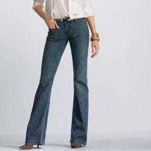 CAbi Retro Mid Rise Indigo Trouser Jean Wide Leg